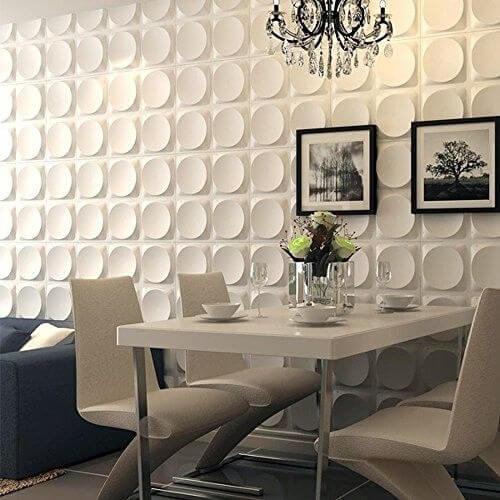 Sala-integrada-com-parede-de-gesso-3D-Foto-de-eBay